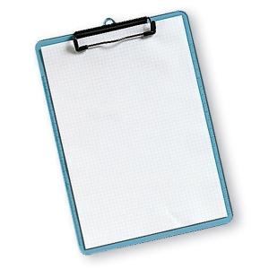 Kirjoitusalusta 230 x 315mm läpikuultava sininen