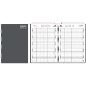 CC 2809 Varauskalenteri A4, metallinharmaa