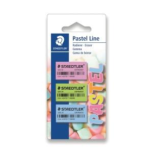 Staedtler pyyhemuovi, pastelli värilajitelma, 1 kpl = 3 pyyhemuovia