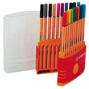Stabilo Point 88 kuitukärkikynä 0,4 mm värilajitelma, myyntierä 1 kpl = 20 kynää