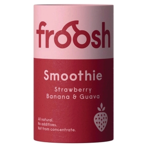 Froosh Shorty smoothie mansikka-banaani-guava 150ml, 1 kpl=24 purkkia