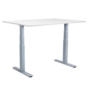 GetUpDesk Duo valkoisella pöytälevyllä 160x80 cm