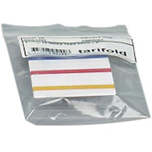 Tarifold kieleke 50mm, valkoinen/värikoodattu, myyntierä 1 kpl = 10 kielekettä
