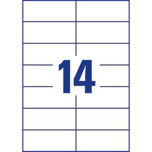 Lyreco monitoimitarra 105 x 42.3 mm 14-osainen, 1kpl=1400 tarraa (100 arkkia)