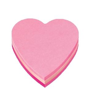 Post-it 2007H sydänkuutio, 3 pinkin sävyä