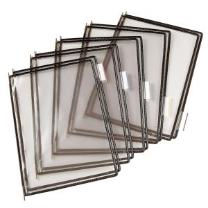 Tarifold lisätasku, avoin yläreuna, läpinäkyvä, musta kehys, 1 kpl =  10 taskua