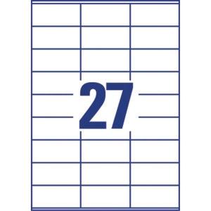 Lyreco monitoimitarra 70 x 32 mm 27-osainen, 1kpl=2700 tarraa (100 arkkia)