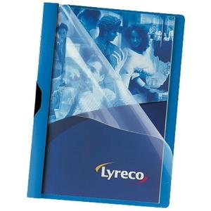 Lyreco puristuskansio A4 kapasiteetti 30 arkkia, sininen, 1 kpl = 5 kansiota
