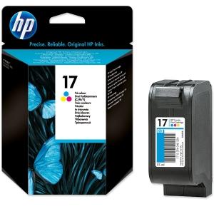 HP No. 17 C6625A Mustesuihkupatruuna 3-väri