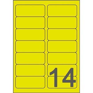 Avery L7263Y Lasertarra 99.1x38.1mm 14-osainen,neonkeltainen, 1kpl=350 tarraa