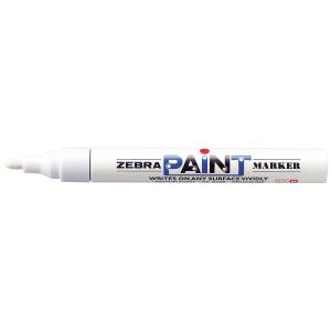 Zebra maalikynä pyöreä 2mm, valkoinen