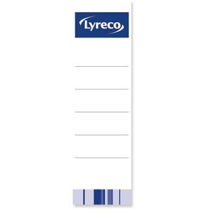 Lyreco mappietiketti 54 x 188mm, 80mm leveälle selälle, 1 kpl = 10 etikettiä