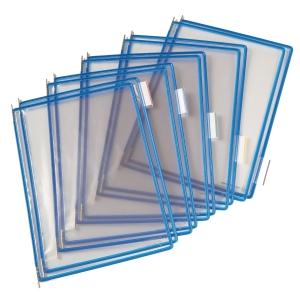 Tarifold lisätasku, avoin yläreuna, läpinäkyvä, sininen kehys, 1 kpl = 10 taskua