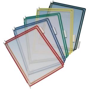 Tarifold lisätasku, avoin yläreuna, läpinäkyvä, punainen kehys, 1 kpl=10 taskua