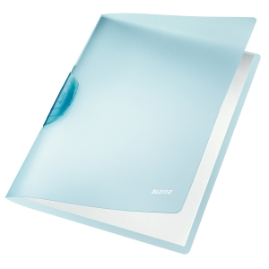 Leitz Rainbow ColorClip puristuskansio A4, kapasiteetti 30 arkkia, sininen