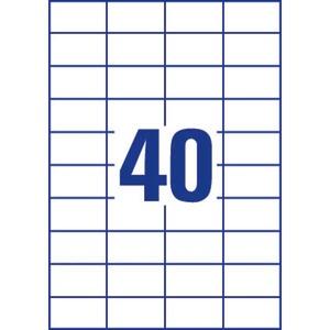 Lyreco monitoimitarra 52.5 x 29.7 mm 40-osainen, 1kpl=4000 tarraa (100 arkkia)