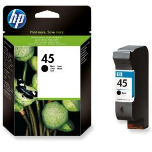 HP No. 45 51645AE Mustesuihkupatruuna musta