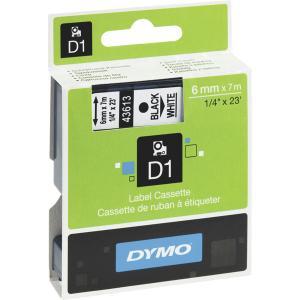 Dymo 43613 D1 teippi 6 mm musta/valkoinen