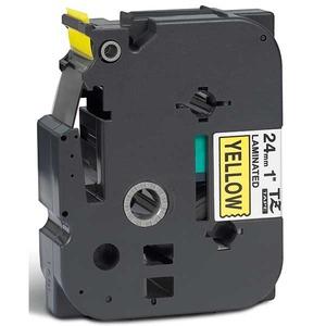 Brother TZe-651 teippi 24 mm musta/keltainen
