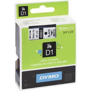 Dymo 45803 D1 teippi 19 mm musta/valkoinen