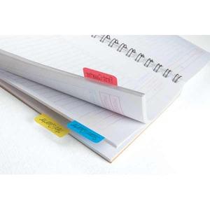 Post-it Index teippimerkki, voimakas sininen, punainen ja keltainen