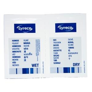 Lyreco yksittäispakatut puhdistuspyyhkeet kuiva/kostea alkoholiton, 1kpl=20 pyyh