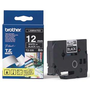Brother TZe-335 teippi 12 mm valkoinen/musta