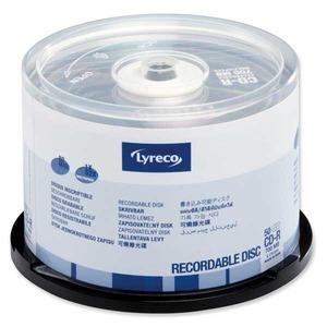 Lyreco CD-R 80min 700MB 52x spindle, 1kpl=50 levyä