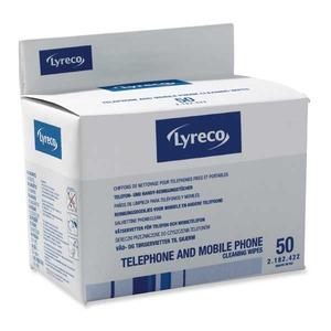 Lyreco puhelimen puhdistusliina yksittäispakattu, 1kpl=50 liinaa