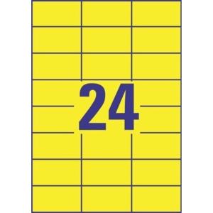 Avery 3451 Tarra 70x37mm 24-osainen, keltainen, 1kpl=2400 tarraa (100 arkkia)
