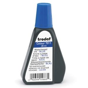 Trodat 7011 kumileimasinväri pullo, 28ml, sininen