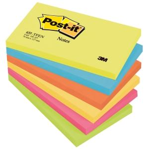Post-it viestilaput 76x127mm, Energetic, myyntierä 1 kpl = 6 nidettä