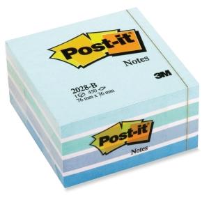 Post-it viestilappukuutio 76 x 76mm, pastellinsininen