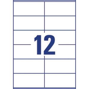 Lyreco monitoimitarra 105 x 48 mm 12-osainen, 1kpl=1200 tarraa (100 arkkia)