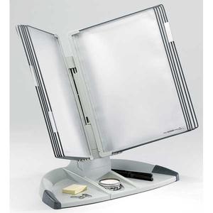 Tarifold T-office pöytäteline A4 10 taskulla, harmaa