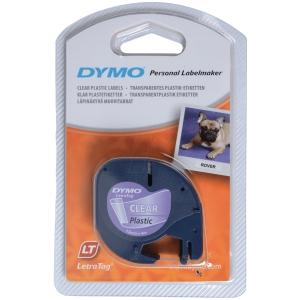 Dymo Letratag 16951 muoviteippi 12 mm kirkas