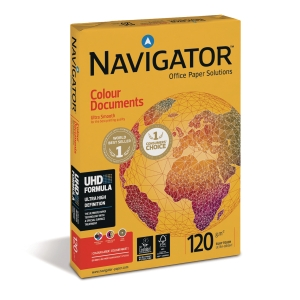 Navigator color documents kopiopaperi A4 120g, 1kpl = 250 arkkia