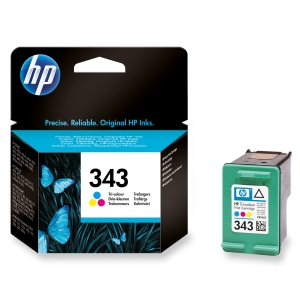 HP No. 343 C8766EE Mustesuihkupatruuna 3-väri