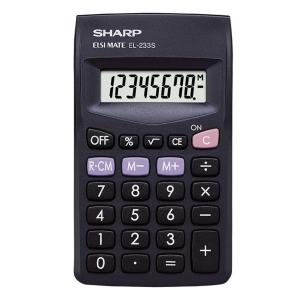 Sharp EL233SBBK Taskulaskin 8 numeron näyttö