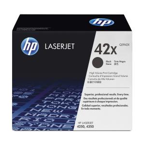 HP 42X Q5942X Laservärikasetti musta