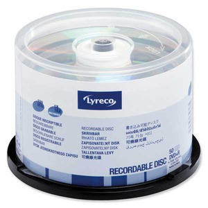Lyreco DVD+R 4.7GB 1-16x spindle, 1kpl=50 levyä