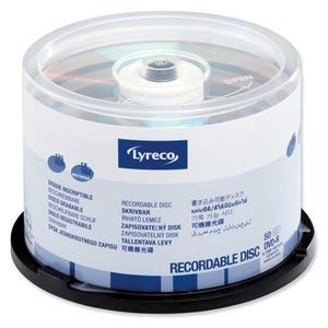 Lyreco DVD-R 4.7GB 1-16x spindle, 1kpl=50 levyä