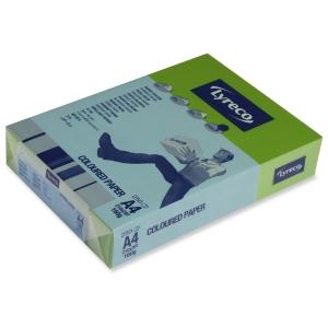 Lyreco väripaperi A4 160g voimakkaan vihreä, 1 kpl = 250 arkkia