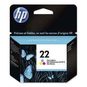 HP No. 22 C9352AE Mustesuihkupatruuna 3-väri