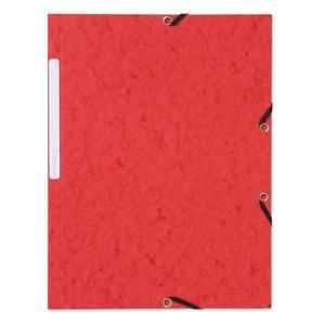 Lyreco kulmalukkokansio A4, punainen, myyntierä 1 kpl = 10 kansiota