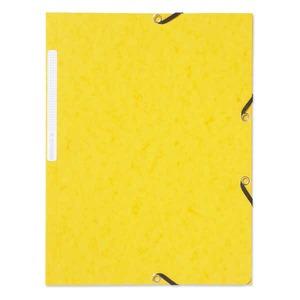 Lyreco kulmalukkokansio A4, keltainen, myyntierä 1 kpl = 10 kansiota