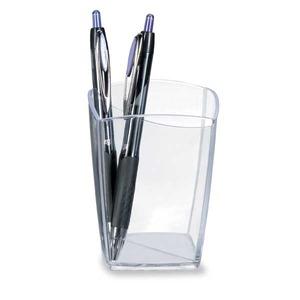 Lyreco kynäpurkki, mitat: 74 x 74 x 95 mm, kirkas