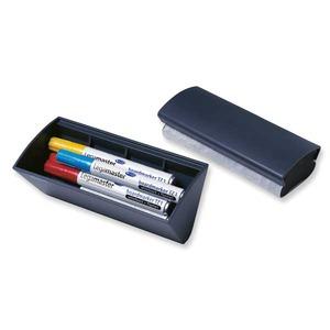 Legamaster magneettinen kynäkotelo/tussiteline ja taulupyyhin 170 x 70mm