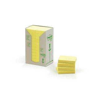 Post-it viestilapputorni eko 38 x 51mm, keltainen, myyntierä 1 kpl = 24 nidettä