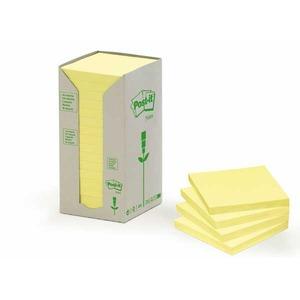 Post-it viestilapputorni eko 76 x 76mm, keltainen, myyntierä 1 kpl = 16 nidettä